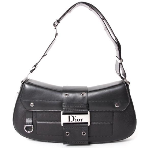 8b4a6f9310e Christian Dior Bags   Black Leather Gunmetal Hardware Bag   Poshmark